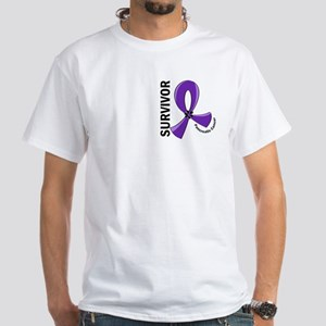 Pancreatic Cancer Survivor 12 White T-Shirt