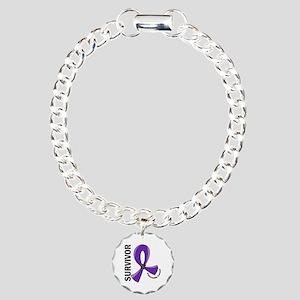 Pancreatic Cancer Surviv Charm Bracelet, One Charm