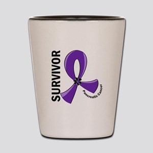 Pancreatic Cancer Survivor 12 Shot Glass