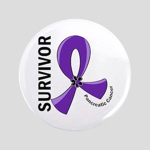 Pancreatic Cancer Survivor 12 Button