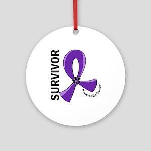 Pancreatic Cancer Survivor 12 Ornament (Round)