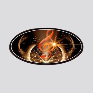 Music, clef with awesome light effect Patch