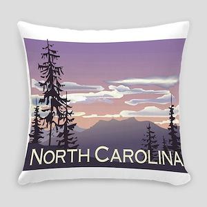 North Carolina Mountains Everyday Pillow