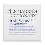Film Dctnry: Roll Sound! Tile Coaster