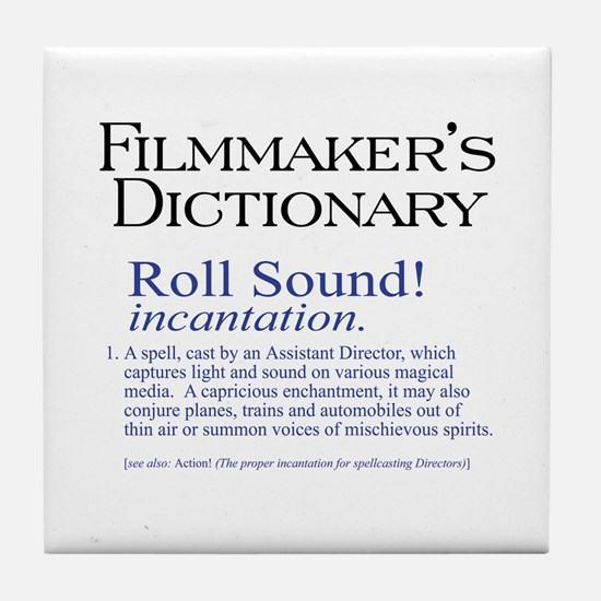Film Dctnry: Roll Sound! Tile Coaster