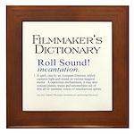 Film Dctnry: Roll Sound! Framed Tile