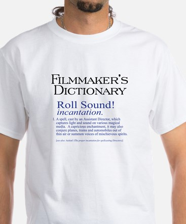 Film Dctnry: Roll Sound! White T-Shirt