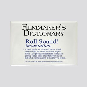 Film Dctnry: Roll Sound! Rectangle Magnet