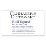 Film Dctnry: Roll Sound! Rectangle Sticker