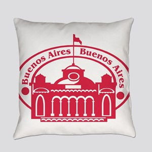 Buenos Aires Passport Stamp Everyday Pillow
