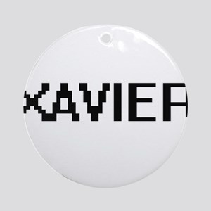 Xavier Digital Name Design Ornament (Round)