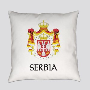 Coat of arms of Serbia Everyday Pillow