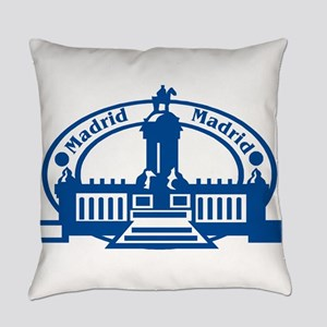 Madrid Passport Stamp Everyday Pillow