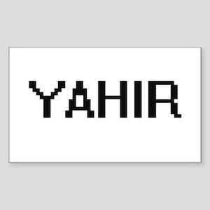 Yahir Digital Name Design Sticker