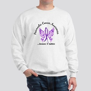 Pancreatic Cancer Butterfly 6.1 Sweatshirt