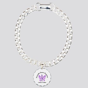 Pancreatic Cancer Butter Charm Bracelet, One Charm