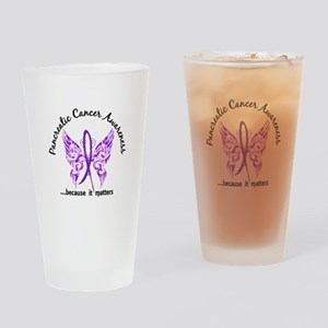Pancreatic Cancer Butterfly 6.1 Drinking Glass