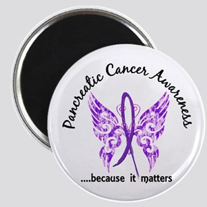 Pancreatic Cancer Butterfly 6.1 Magnet