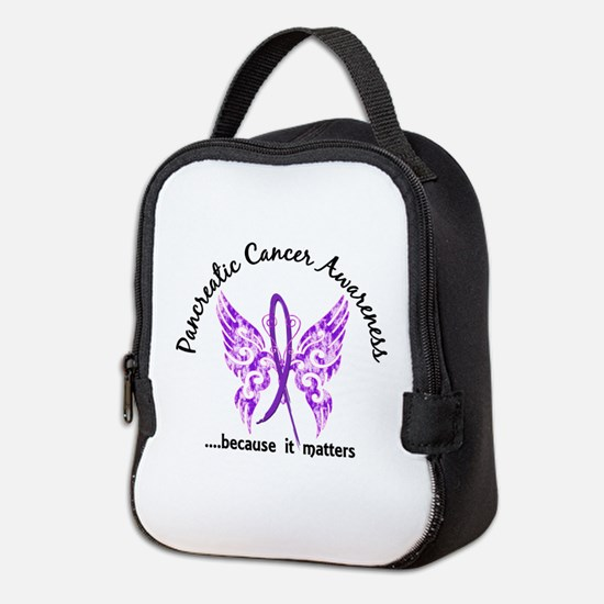 Pancreatic Cancer Butterfly 6.1 Neoprene Lunch Bag