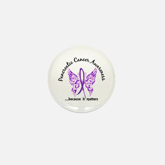 Pancreatic Cancer Butterfly Mini Button (10 pack)