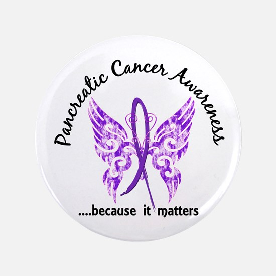 """Pancreatic Cancer Butterfly 3.5"""" Button (100 pack)"""