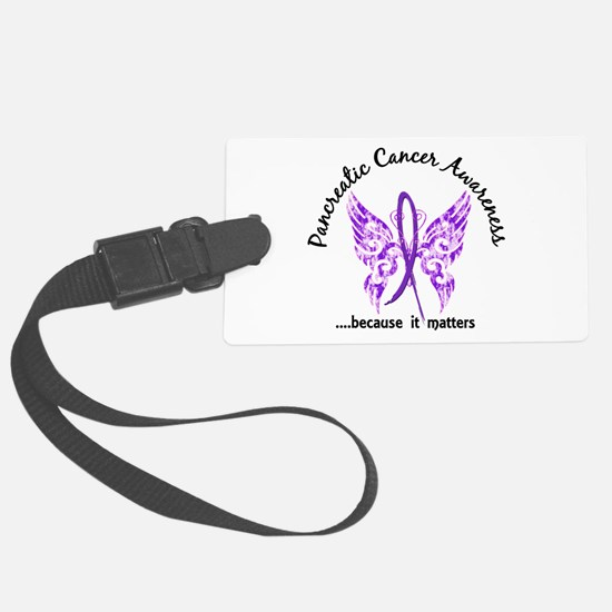 Pancreatic Cancer Butterfly 6.1 Luggage Tag