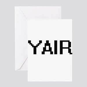 Yair Digital Name Design Greeting Cards