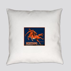 Mustang Fruit Crate Label Everyday Pillow