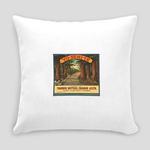 Yosemite Fruit Crate Label Everyday Pillow