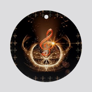 Music, clef with awesome light effect Ornament (Ro
