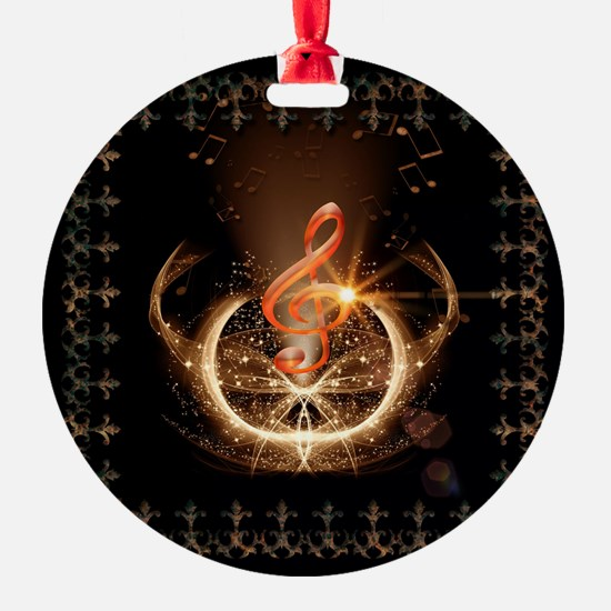 Music, clef with awesome light effect Ornament