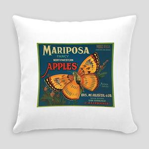 Mariposa Butterfly Fruit Crat Everyday Pillow