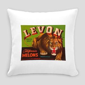 Levon Lion Fruit Crate Everyday Pillow