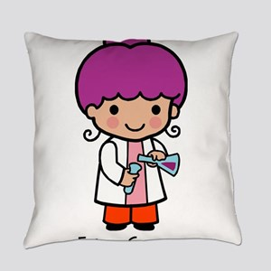 Future Scientist - girl Everyday Pillow