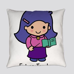 Future Teacher - girl Everyday Pillow