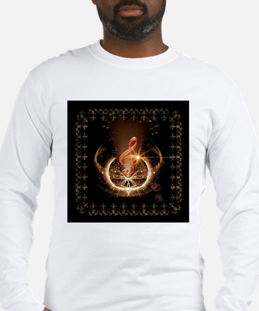 Music, clef with awesome light effect Long Sleeve