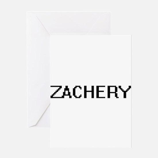 Zachery Digital Name Design Greeting Cards