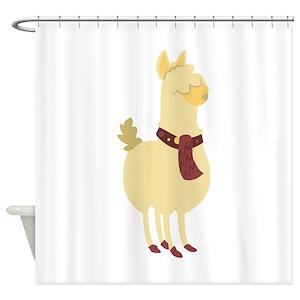 Funny Llama Shower Curtains