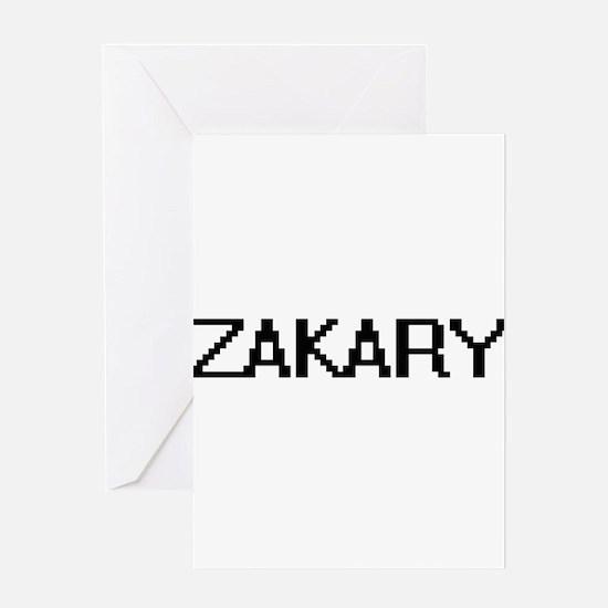 Zakary Digital Name Design Greeting Cards