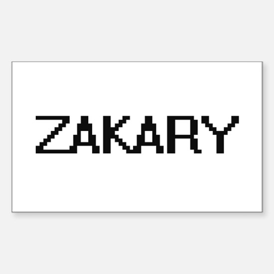 Zakary Digital Name Design Decal