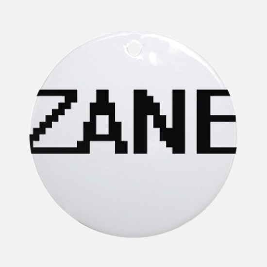 Zane Digital Name Design Ornament (Round)
