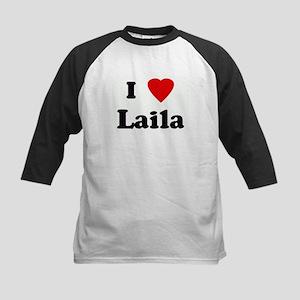 I Love Laila Kids Baseball Jersey