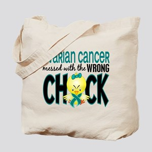 Ovarian Cancer MessedWithWrongChick1 Tote Bag