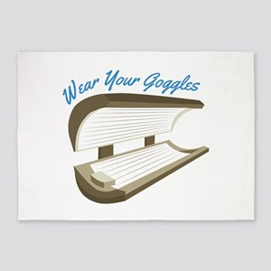 Wear Your Goggles 5'x7'Area Rug