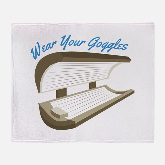 Wear Your Goggles Throw Blanket