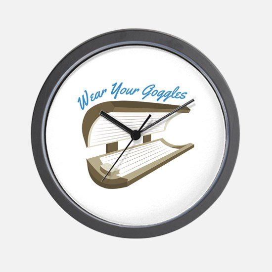 Wear Your Goggles Wall Clock