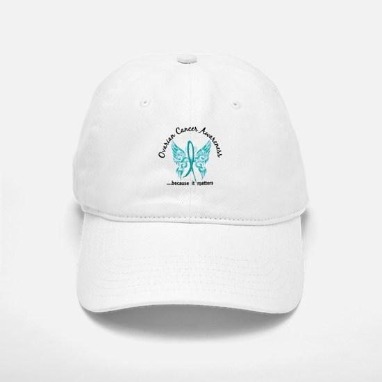 Ovarian Cancer Butterfly 6.1 Baseball Baseball Cap