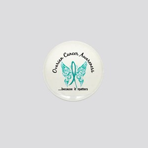 Ovarian Cancer Butterfly 6.1 Mini Button