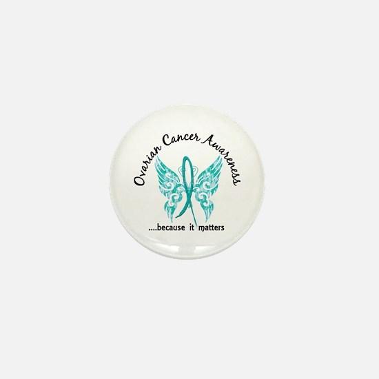 Ovarian Cancer Butterfly 6.1 Mini Button