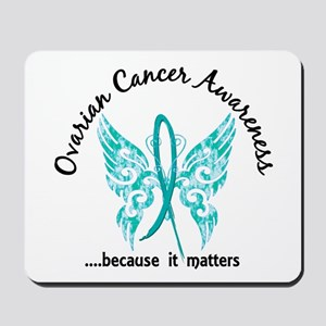 Ovarian Cancer Butterfly 6.1 Mousepad